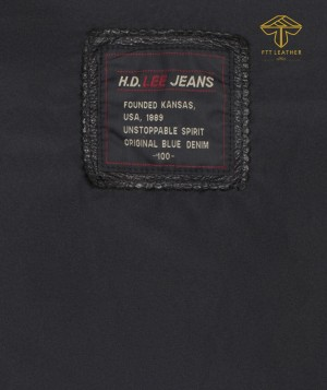 ÁO DA BÒ ĐEN 2 TÚI HỘP N3 - RE leather jacket