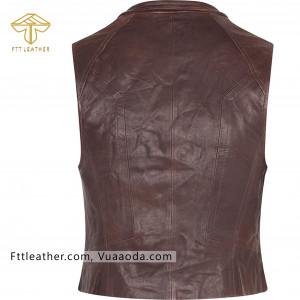 Áo Gilet da bò - áo da nữ màu hạt rẻ RE