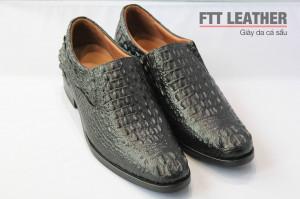 Giày da cá sấu - giày da nam - Gù cá sấu - Màu đen