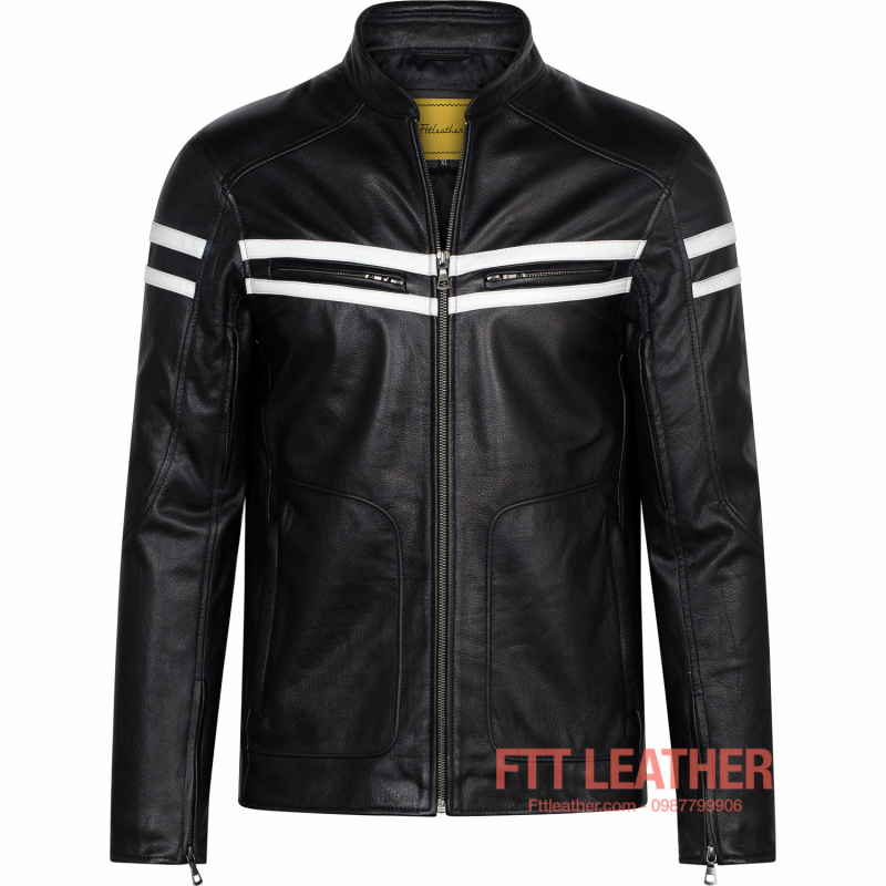 Áo da Motorcycle Jacket – MS MJ04BL