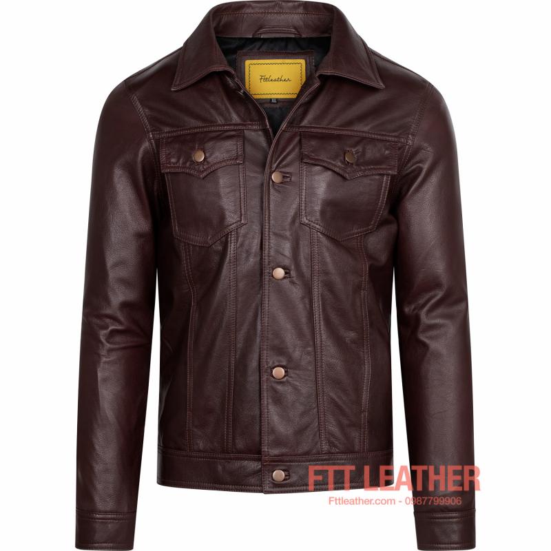 Áo da Classic Jacket – MS CL02PP