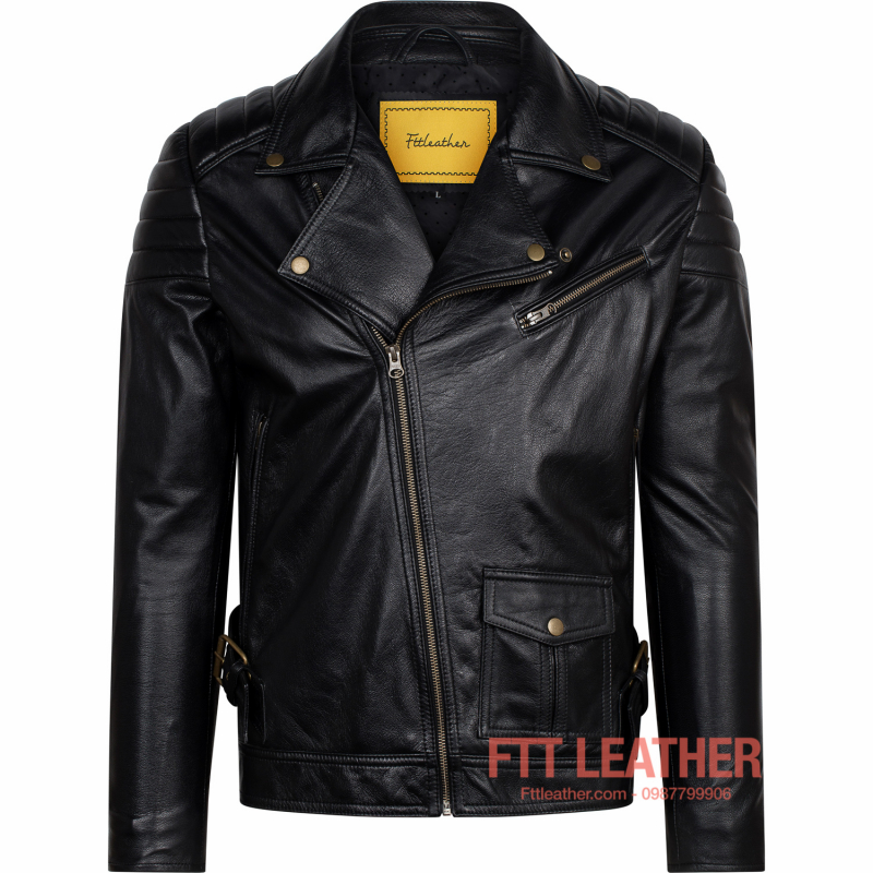 Áo da Biker Jacket – MS BJ01BL