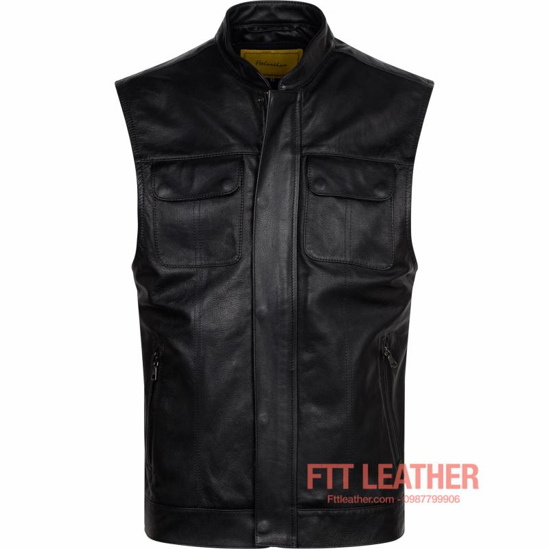Áo da Vest Jacket – MS VJ01BL