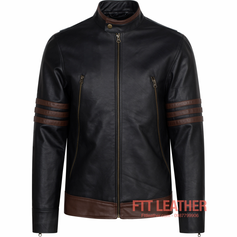 Áo da Racer Jacket Wonverine X-men – MS MJ02BL