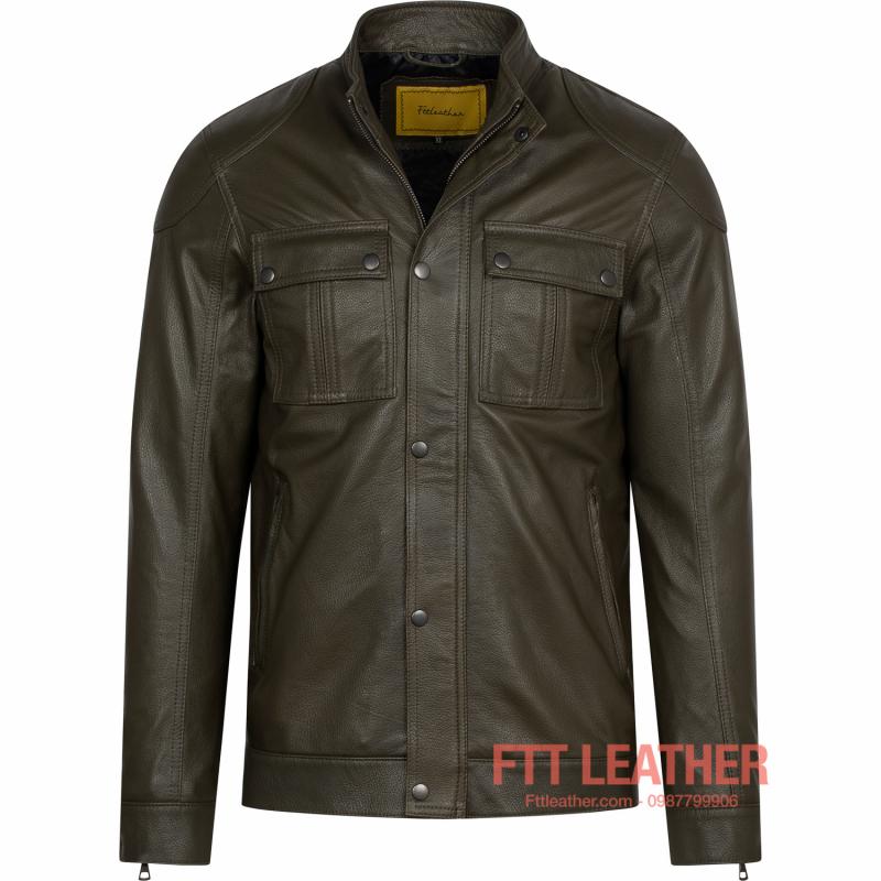 Áo da dê dáng thiết kế Classic – MS CL01GR - U5