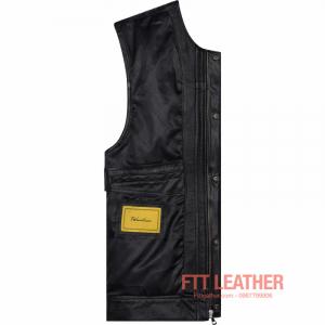 Áo da dê dáng Vest Jacket – MS VJ01BL U5