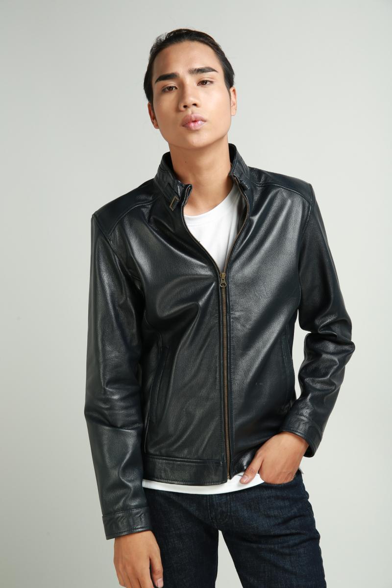 Áo da nam chất liệu dê, dáng Racer- FTT Leather