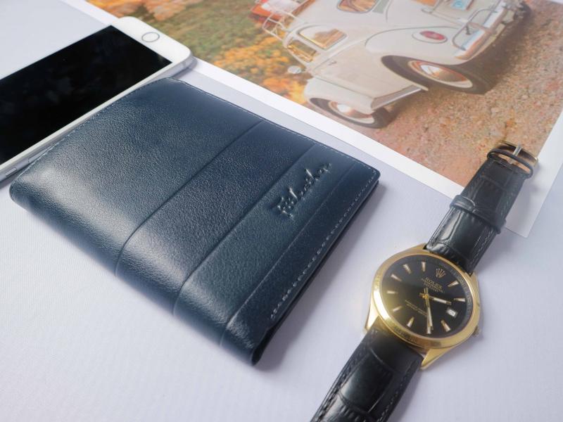Ví da màu xanh dương FTT Leather
