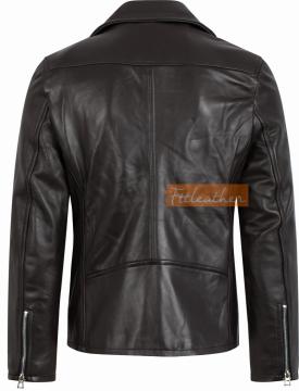 Classic Biker Jacket - Áo da cừu Minimalist Biker Jacket Fttleather MNBK01 2018 - U5