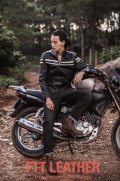 Áo da Motorcycle Jacket – MS MJ04BL U7