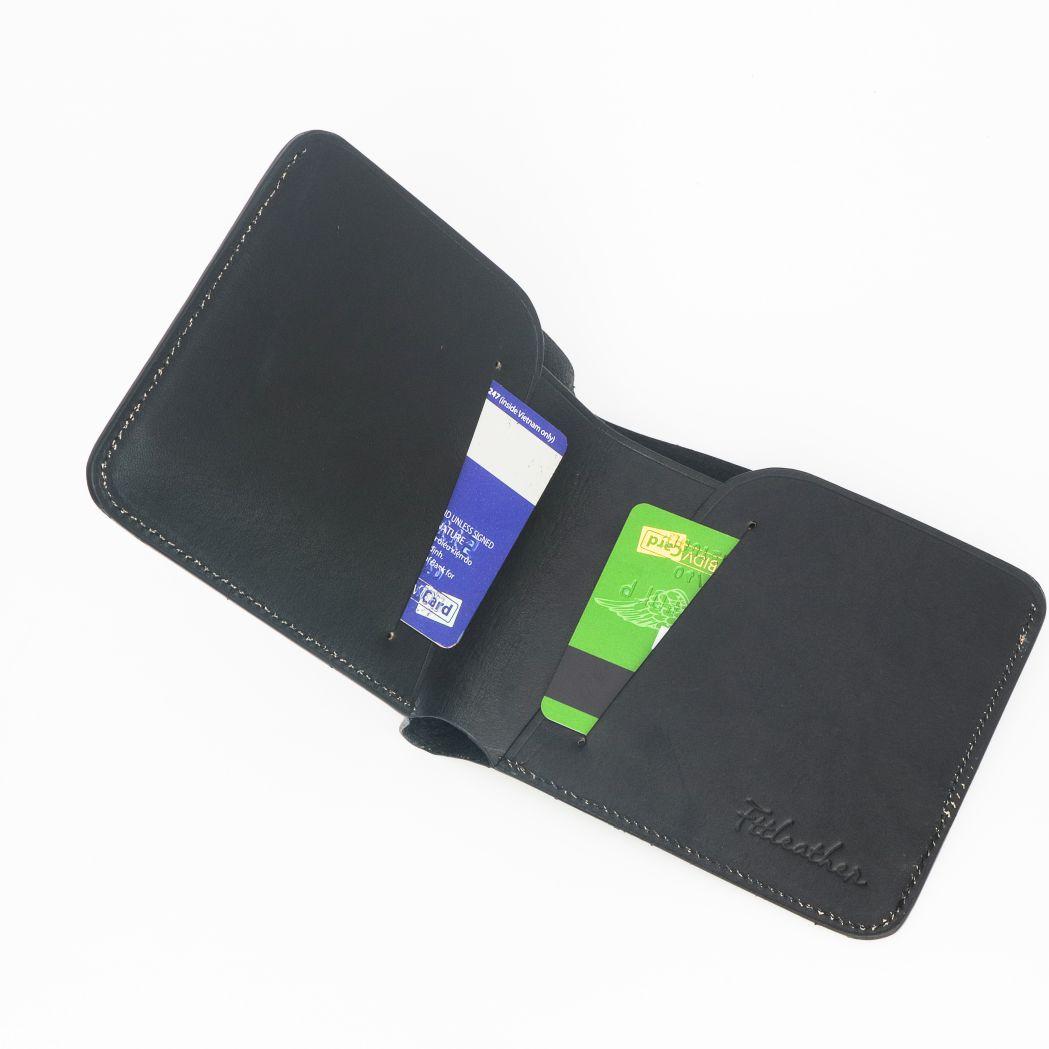 Ví da Veg làm thủ công – Mã V01010165BL- FTT Leather