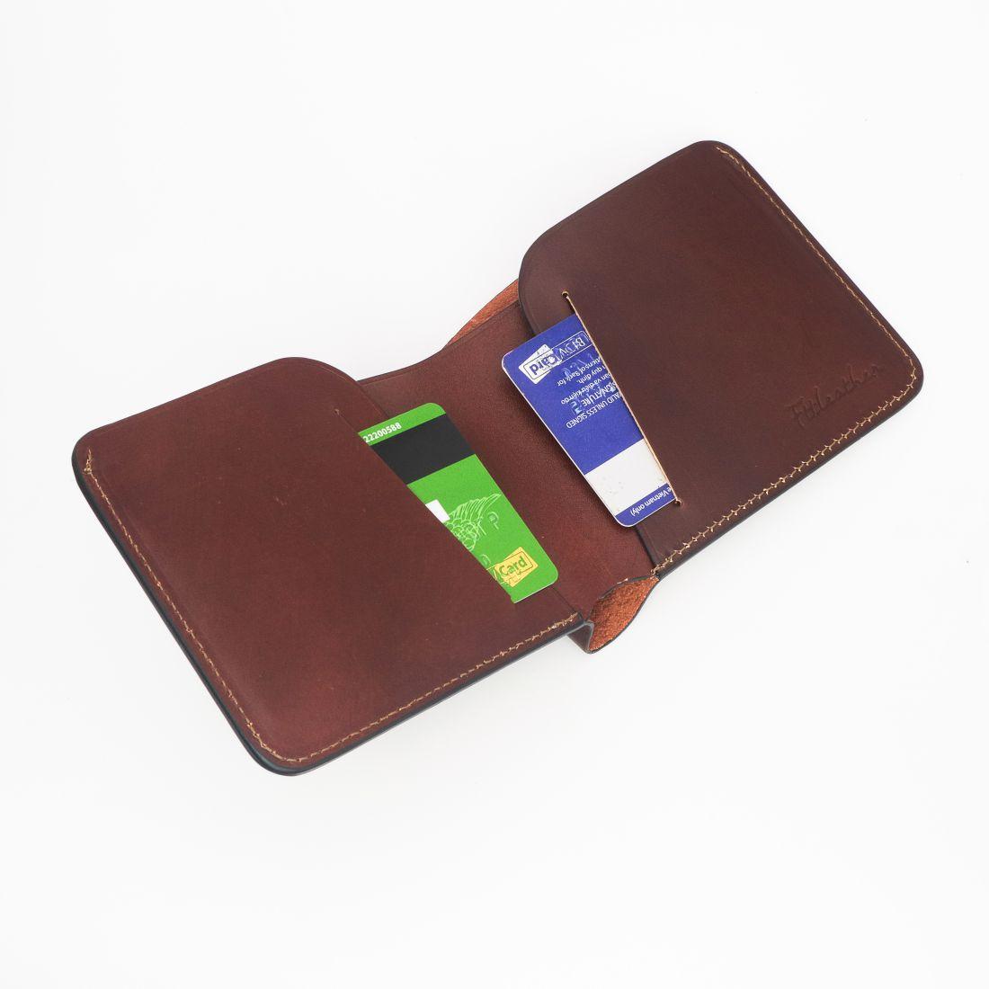 Ví da nam Handmade – Mã V010101BR – FTT Leather