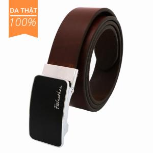 Thắt lưng nam da bò đen FTT Leather mã DF1 (Mặt trượt tự động)