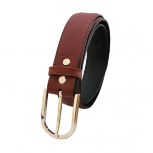 Thắt lưng nam da bò khóa kim FTT Leather mã DF136022 (Mặt trắng hoặc xám)