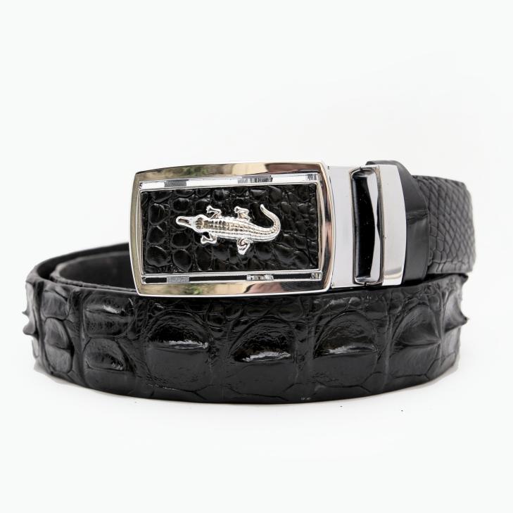 Thắt lưng nam da cá sấu đen mặt trắng(Cá sấu Việt,Cá sấu Thái nối,Cá sấu Thái liền)
