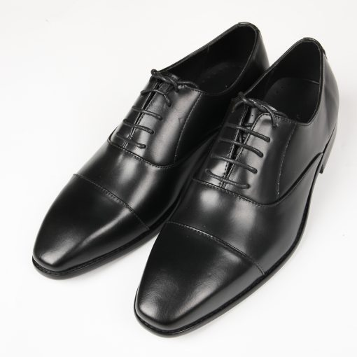 GIÀY DA NAM OXFORD CAP TOE FTT LEATHER MÀU ĐEN