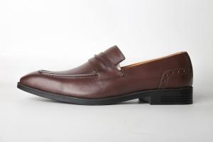 Giày lười Loafer màu nâu - chất liệu da bò F020241