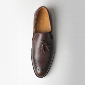 Giày lười Horsebit Loafer màu nâu bò độc đáo f022641